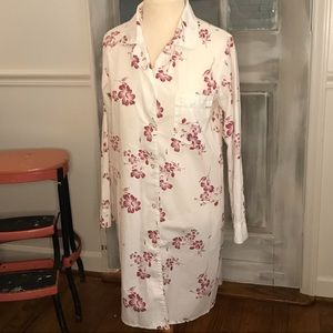 Vintage button front nightshirt w pocket NATIONAL